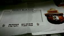 """'SMOKEY BEAR """" LICENSE PLATE And 6"""" Sticker . Show your support  for Smokey ."""