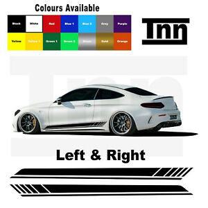 Side Stripe Stickers For Mercedes Benz AMG Edition 1 C63 Coupe Decal W205 C200