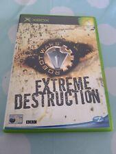 Robot Wars Extreme Zerstörung Original Microsoft Xbox Spiel komplett mit Handbuch
