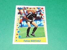 PANINI FOOTBALL SUPERFOOT 1998-1999 FABIEN BARTHEZ EQUIPE FRANCE AS MONACO