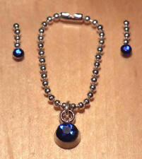 1/12 dolls house miniature Handmade Necklace & Earrings Jewellery Set BN LGW
