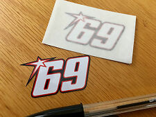 Nicky Hayden No69 Race Numbers (Very Small Pair)