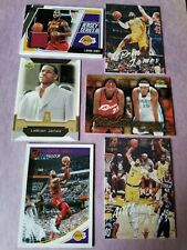 LEBRON JAMES ROOKIE card Game Used Jersey 2019-20 LUMINANCE ANTHONY DAVIS LAKERS
