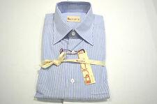 NEW-BURINI-Dress Shirt  BRIONI 100%Cotton Size V Us 17.5/17.75 Eu 44/45 Cod A30