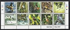 GREAT BRITAIN 2007 BIRDS SALE DATE BLOCK OF 10 UNMOUNTED MINT