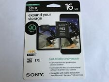 Sony 16GB High Speed Class 10 UHS-1 Micro SDHC up to 90MB/s Memory Card 4K video