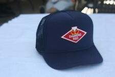DIAMOND REO  TRUCKERS HAT WITH PATCH, ADJUSTADLE SNAP BACK,NAVY BLUE