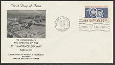 1959 #387 St Lawrence Seaway FDC, Unusual Cachet, Ottawa