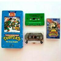 TMNT Cassette & VHS Tapes 90s Lot of 4 Teenage Mutant Ninja Turtles Vintage
