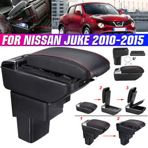 Armrest Box For Nissan Juke 2010-2015 Dual Layer Central Storage Box With 7 USB