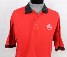 VINTAGE PAUL REVERE 1801 COPPER COOKWARE COOKING RED POLO CASUAL SHIRT SIZE L
