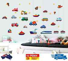 Car Truck Removable Wall Sticker Boy Decor Kids Airplane Boat Nursery Rocket Part 88