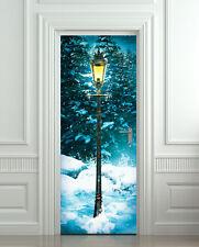 STICKER for door / wall / fridge narnia lamp lamppost decole poster wrap skin