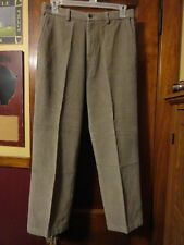 NICE! Men's Haggar Taupe Flat Front Corduroy Chino Style Pants, 34W/30L