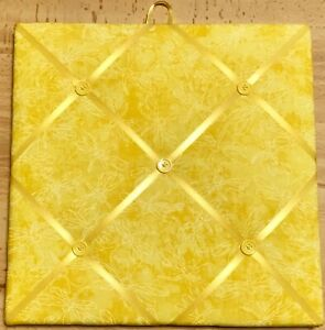 French Bulletin Board Photo Memo Yellow Dragonfly Print 11.8 x 11.8 inches