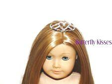 Rhinestone Heart Tiara Crown 18 in Doll Clothes Fits American Girl  WS