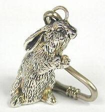 Silver Bunny - Animal Key Chain | Key Ring