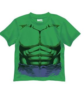 Marvel Boys' Hulk T-Shirt, Purple Shorts Kelly Green, Large