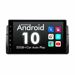 """Eonon Android 10 9"""" Car Radio GPS CAN Bus Stereo For BMW E46 320 330 323 325 M3"""