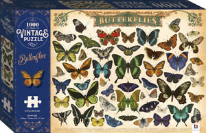 Butterflies 1000 Piece Vintage Jigsaw Puzzle: by Steeven Salvat 690 x 546mm NEW