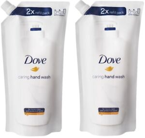 (Pack of 2) Dove Caring Hand Wash 2x Refill Pack 16.9 Fl Oz No Animal Testing