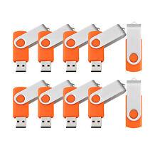 10PCS 4GB USB 2.0 Flash Drive Swivel Enough Memory Stick Thumb Pen DrIves Lot