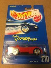 Dodge Viper RT/10 #210 * RED w/ SILVER Disc Rims * Blue Card Hot Wheels * H29