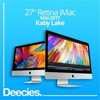 "NEW 2017 Apple Retina iMac 27"" 5k 4.2Ghz i7 KABY LAKE 64GB 3TB Fusion Radeon 580"