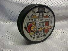 2007 NHL Stanley Cup Final Dueling Puck Souvenir Ottawa Senators v Anaheim Ducks