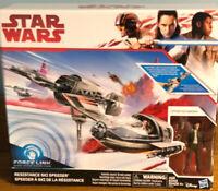Stars Wars Jedi Ski Speeder Vehicle w/ Poe Dameron force link Hasbro Disney