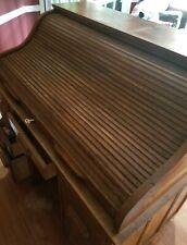 Beautiful Solid Oak Roll Top Desk Antique