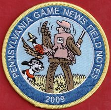 Pa Pennsylvania Game Fish Commission NEW 2009 Pa Game News / Field Notes Patch