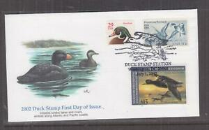 UNITED STATES, DUCK STAMPS, 2002 Black Scoter $ 15.00 First Day cover.