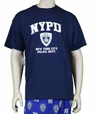 Nypd Nypd Mens Tee Navy  White Logo Short Sleeve T-Shirt Nypd