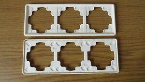 2x Gira S-Color Reinweiß Rahmen 3-fach ( 21340 ) gebraucht Guter Zustand