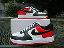 NIKE AIR FORCE 1 SHOE ID BY YOU SZ 9.5 JORDAN 1 BLACK TOE BRED TOE CHICAGO AF1