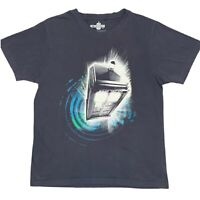 Doctor Who Tardis Graphic Mens Grey T-Shirt Size Large Sci-fi Television