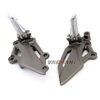 For Kawasaki EX250R/EX300 Ninja Z250 Z300 Front Foot Pedal Peg Bracket Both side