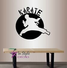Vinyl Decal Karate Martial Arts Sports Fight Fighter Boys Room Wall Sticker 1628