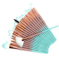 20Pcs Unicorn Makeup Brushes Set Powder Blush Eyeshadow Eyebrow Lip Brush Kit