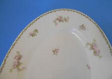 """Large 16"""" Limoges porcelain w Pink Roses SERVING PLATTER antique early 1900s"""