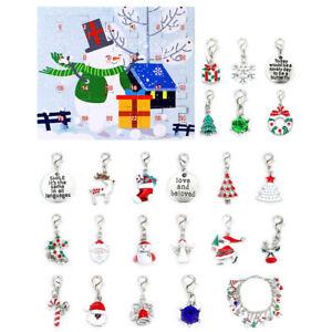 New Christmas Advent Countdown Calendar DIY Charm Bracelet Making Jewelry Gift