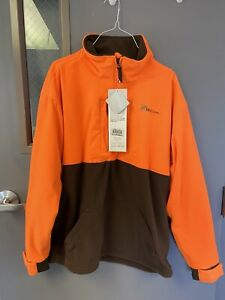McAlister 1/4 Zip Upland Hybrid Hunting Pullover Orange L Large NWT