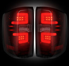 RECON 14-16 CHEVY SILVERADO/GMC SIERRA DUALLY RED SMOKED LED TAIL LIGHTS