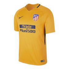 Maillots de football de clubs espagnols jaunes Nike longueur manches manches courtes