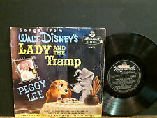 "WALT DISNEY  LADY AND THE TRAMP  Peggy Lee   10""  L.P.    UK original  RARE !!"