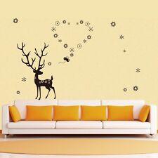 Large Deer Flower Heart Wall Decor Vinyl Decal Sticker Removable Nursery DIY