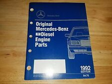 Mercedes Benz Dealership Diesel Engine Parts Book Catalog Numbers OEM 1992