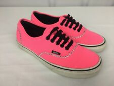VANS LoPro Exclusive Custom Bling Neon Hot Pink Canvas Shoes / Black TB9C 6.5/8