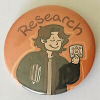 Old CRUK logo Cancer Research UK Pin Badge Angel with White Stone